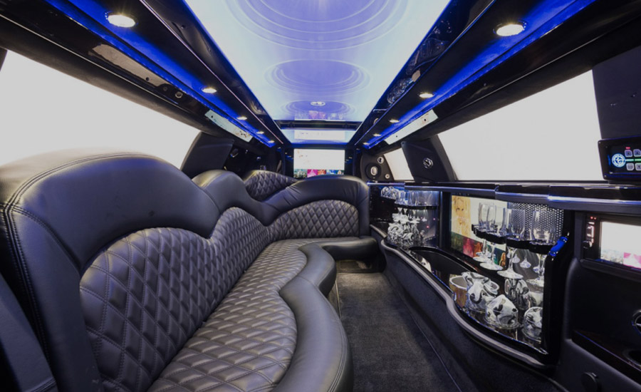 Image of interior of limo