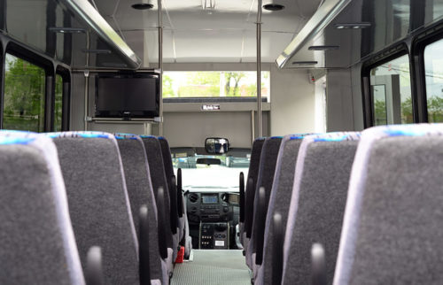 Image of interior of bus on American Limousines website