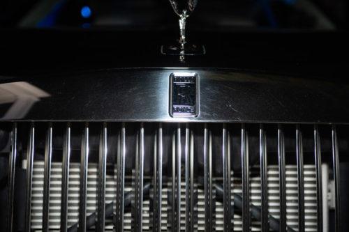 Image of Rolls Royce symbol on car