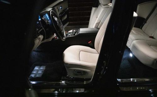 Image of interior of limousine website