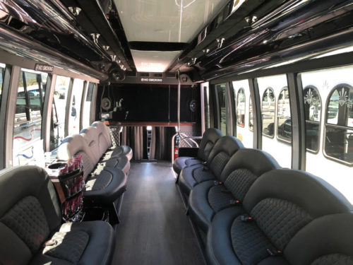 Image of Limo Coach Interior on American Limousines website