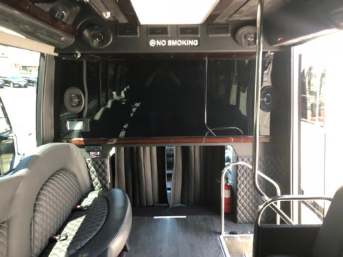 Image of inside of limo on American Limousines website