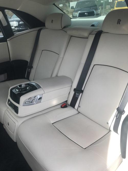 Image of Rolls Royce Interior Seats on American Limousines website
