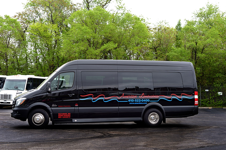 Image of Sprinter Executive limo on American Limousines website